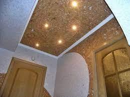 Отделка потолка из бисера